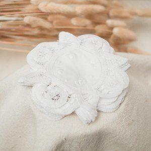 White Doilies Lace Coasters